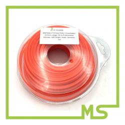 Mähfaden Trimmerfaden Ersatzfaden 2,4 mm Länge: 50 m  Professional Version: hält länger, leiser, besserer cut