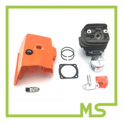 Zylinderhaube für Stihl 026- Dekoventil- Zylinder und Kolbensatz für Stihl MS260 / 026 - 44 mm
