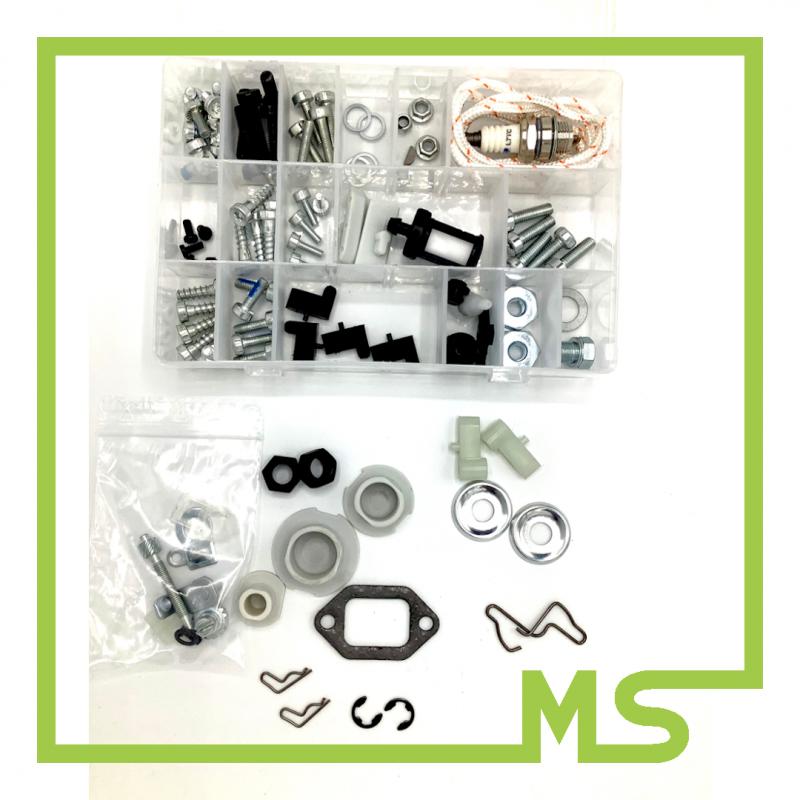 92in1 Set mit Schrauben Muttern Clips für Stihl MS660 MS460 MS440